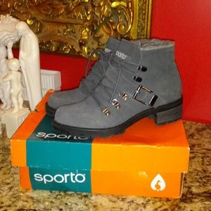 1114 Sporto Katie Lace Up Leather Boots